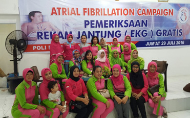 Pada tanggal 29 juli 2016 pengurus daerah Bhayangkari Sumatera Barat mengikuti kegiatan pemeriksaan rekam jantung (EKG) gratis dirumah sakit Bhayangkara Polda Sumbar.