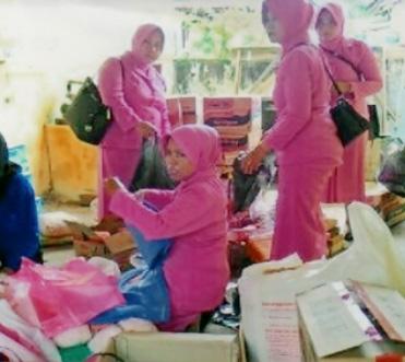 Pada tanggal 10 Februari 2016, pengurus cabang Bhayangkari 50 kota menyiapkan bantuan yang akan di serahkan kepada korban banjir di kec Pangkalan Kab.Lima Puluh Kota.